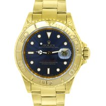 Rolex 16628 Yachtmaster 18k  Gold Blue Dial Watch