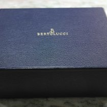 Bertolucci vintage big watch box blu leather complete newoldstock