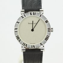Tiffany & Co. Sterling Silver Atlas Quartz Watch On Strap