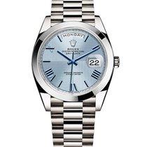 Rolex Unworn 228206 Day Date 40 - Polished Bezel - Platinum on...