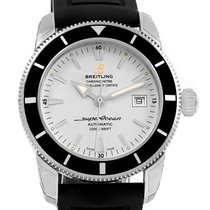 Breitling Superocean Heritage 42 Silver Dial Mens Watch A17321...