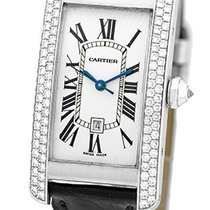 "Cartier ""Diamond Tank Americaine"" Strapwatch."