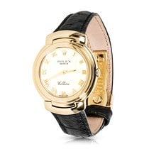Rolex 1990s Cellini 18K Yellow Gold Quartz Dress Watch 6622