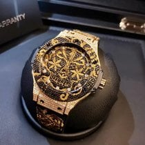 Hublot Big Bang Broderie Carbon Yellow Gold Diamonds L.E.