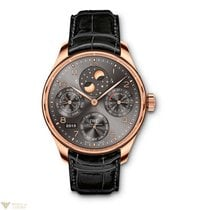 IWC Portuguese Perpetual Calendar Moonphase Double Moon Red...