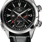 Tudor Heriatge Advisor Black Dial Leather Mens Watch 79620TN-BKLS