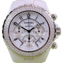 Chanel J12 H1008 White Ceramic Chronograph 41mm Automatic Date...