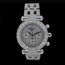 Chopard Imperiale chronograph 18kt white gold full pave