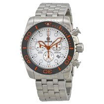 Deep Blue Sea Ram Chronograph White Dial Stainless Steel...