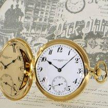 Patek Philippe 18k gold hunter case pocket watch, overhauled...