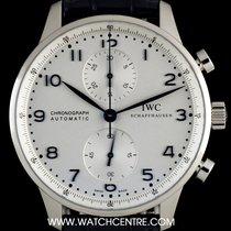 IWC S/Steel Unworn Silver Dial Portuguese Chrono B&P IW371446