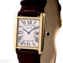 Cartier Tank Solo Small Yellow Gold Ref-W1018755 Box Papers...