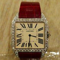 Cartier Santos Dumont white gold with diamonds