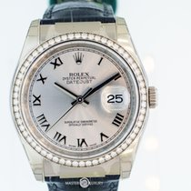 롤렉스 (Rolex) 116189 Datejust Diam Bezel Rhodium Grey Roman Dial WG