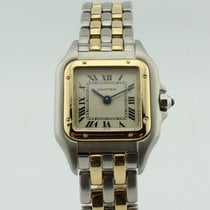 Cartier Panthere Quartz Steel-18k Gold Lady 112000R