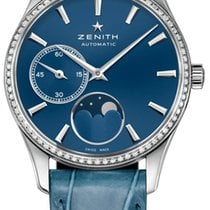 Zenith Elite Ultra Thin Moonphase Stainless Steel Blue Dial...
