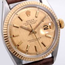 Rolex Mens TT 36mm Datejust Champ Linen - Brown Horween  Non...