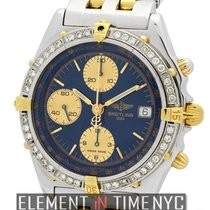 Breitling Chronomat Steel & Gold Blue Dial Diamond Bezel...