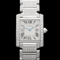 Cartier Tank Francaise Diamonds 18k White Gold with aftermarke...