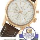 Breitling Transocean Chronograph 18K Rose Gold RB0152 43mm Silver