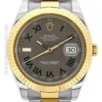 Rolex stainless steel and 18k yellow gold Datejust II