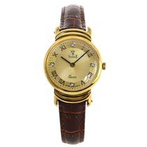 Vicence Ladies 14K Yellow Gold Wristwatch on Genuine Leather...