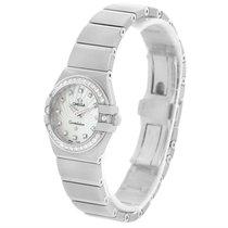 Omega Constellation Steel Mop Diamond Watch 123.15.24.60.55.00...