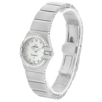Omega Constellation Steel Mop Diamond Watch 123.15.24.60.55.00...
