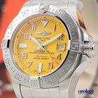 Breitling Avenger II Seawolf Diver Watch Steel Bracelet Yellow...