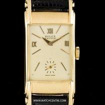 Rolex 18k Y/G  Rectangular Prince Scroll Lugs Gents 3937