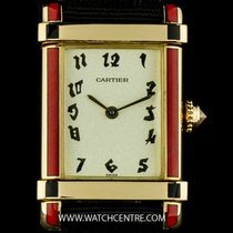 Cartier 18k Yellow Gold & Enamel Tank Chinoise Ladies...