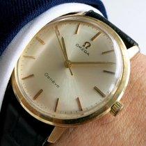 Omega Geneve solid gold vintage 14ct 18ct carat vollgold