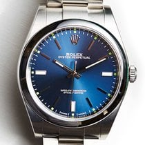 Rolex Oyster Perpetual No-Date 39mm Blue Dial