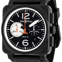 Bell & Ross Aviation Black and White Dial Chronograph BR03-94
