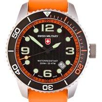 Swiss Military Marlin Scuba Swiss Watch Orange Rubber Strap...