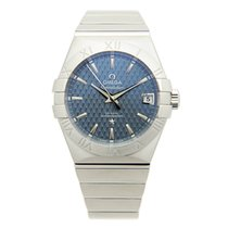 Omega Constellation Stainless Steel Blue Automatic 123.10.38.2...