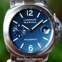 Panerai PAM 69 Luminor Marina Auto Date Blue Dial bracelet 40mm