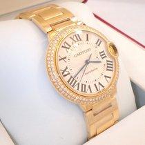 Cartier Ballon Bleu 36mm Midsize We9004z3 18k Y Gold Fact...