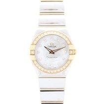 Omega Constellation Diamond 18ct Pink Gold & Steel Watch...