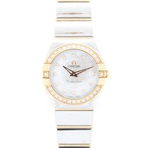 Omega Constellation Diamond 18ct Pink Gold & Steel Watch...