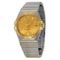 Omega Constellation Stainless Steel and Yellow Gold Ladies...