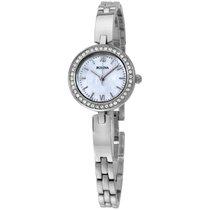 Bulova Crystal Mop Dial Stainless Steel Ladies Watch 98x107