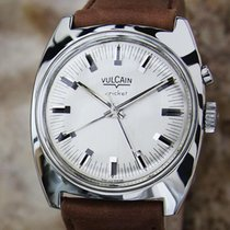 Vulcain Cricket Alarm Swiss Made 1960s Stainless Steel 34mm...
