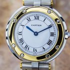Cartier Ladies Size 18k Gold And Ss Santos Swiss Made Luxury...