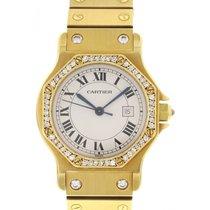 Cartier Large Cartier Santos 18k YG & Factory Diamonds...
