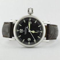 Chronoswiss Time Master Black Dial On Alligator Strap Ch2833