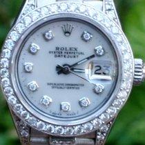 Rolex Ladies  White Gold 6917 Datejust President Diamond Band...