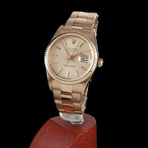 Rolex Oyster Perpetual Date Yellow Gold Men Size
