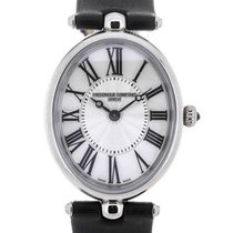 Frederique Constant Art Deco Black Strap Mother of Pearl Dial...
