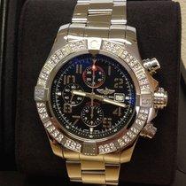 Breitling Super Avenger II A1337153 - Factory Set Diamond Bezel